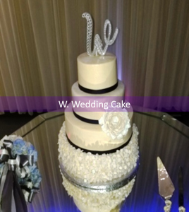 W Wedding Cake2